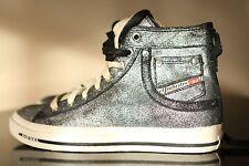 Diesel Exposure Women Black Glitz Shoes Size UK 5 UE 38