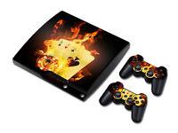 PS3 PlayStation 3 Slim Skin Design Foils Aufkleber Schutzfolie - Burning Cards