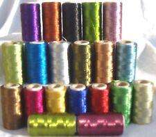 20 Metallic Thread Spools, 20 colours 400 YARDS EACH