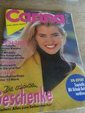 🧵✂✂✂✂MAGAZINE BURDA CARINA  VINTAGE LINGERIE TUNIQUE JUPE....NOVEMBRE  1991
