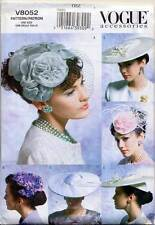 VOGUE SEWING PATTERN 8052 MISSES RETRO VINTAGE1950s MILLINERY, HATS, FIVE STYLES
