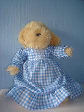 Handmade Green Gingham Frill  Dress . Baby Annabell,  design a bear
