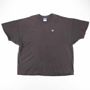 CHAMPION Grey 00s Short Sleeve T-Shirt Mens 2XL