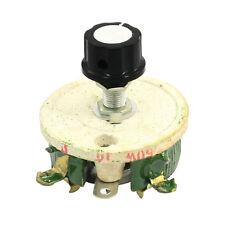 50W 10 Ohm Ceramic Potentiometer Variable Taper Pot Resistor Rheostat F8I1 P5V5