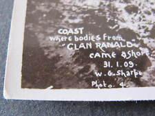 Bodies from Clan Ranald shipwreck ashore Edithburgh Yorke Peninsula Postcard
