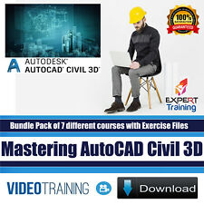 Mastering AutoCAD Civil 3D Video Training Bundle Pack of 7 Course 8.9GB DOWNLOAD