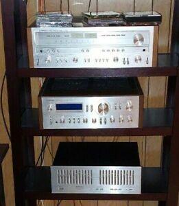Vintage Pioneer Silver Series Stereo System