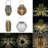 Outdoor Solar Lantern Hanging Light Led Pillar Yard Patio Light  Garden Lamp NEW