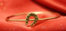 Ladies Horseshoe Bangle Bracelet! Vtg Estate 14K Yellow Gold