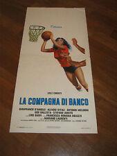 LOCANDINA,1977,LA COMPAGNA DI BANCO  Lilli Carati, Alvaro Vitali, Lino Banfi