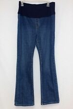 Gap Maternity Size 10 Regular Blue Stretch Pull On Straight Leg Denim Jeans