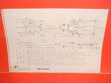 1964 CHEVROLET IMPALA SS CONVERTIBLE COUPE BELAIR BISCAYNE FRAME DIMENSION CHART
