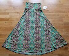 NEW Lularoe Maxi Skirt Full Length Maxi Women's Extra Small Green Yellow Comfy