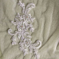 Lace short Wedding Veil 1T Ivory / white Tulle Elbow Bridal veil + Comb NEW