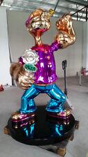 Life Size 6.5 ft. Candy Chrome Popeye Pop Art Sculpture Wynn Koons Fiberglass