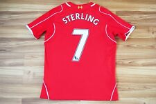 #7 STERLING LIVERPOOL 2014 2015 HOME FOOTBALL SHIRT JERSEY CAMIESTA XL BOYS 158