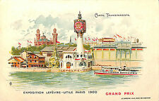CPA TRANSPARENTE PARIS EXPOSITION UNIVERSELLE WORLD FAIR GRAND PRIX LU 1900