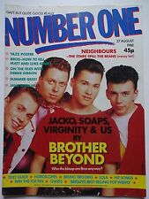 NUMBER ONE UK MUSIC MAGAZINE 27/8/88 - BROTHER BEYOND-JANE WIEDLIN-DEBBIE GIBSON