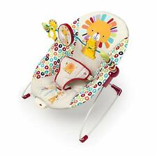 Bright Starts Playful Pinwheels baby Bouncer infant seat vibrating chair