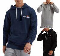 ellesse Mens Primero Overhead Hooded Sweatshirt Top Black Blue Grey Hoodie