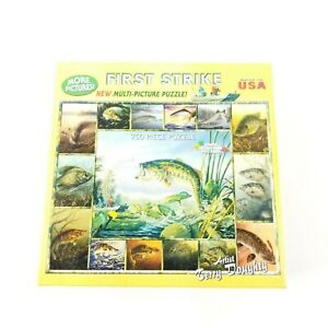 White Mountain First Strike Multi Picture Puzzle 750 Pieces Terry Doughty Sealed