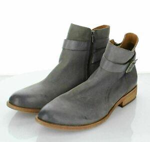 11-44 NEW $195 Women's Sz 10 M Kork-ease Viki Leather Bootie In Grey