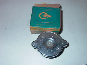 NOS CALIFORNIA CUSTOM PLATED RADIATOR CAP # 40-7 BUICK, CHEV TK ,OLDS ,CORVETT