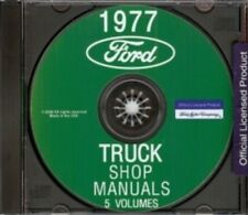 FORD 1977 Bronco, Bus, Van, F100-F350 Pick Up & Heavy Duty Truck Shop Manual CD