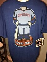 DETROIT TIGERS T SHIRT  MAJESTIC COOPER TOWN COLLECTION NWTS SIZE  L B13 2
