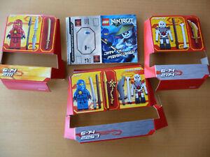 Lego Ninjago 2257 Spinjitzu Starter Set + 2111 Kai + 2114 Chopov, Top Zustand