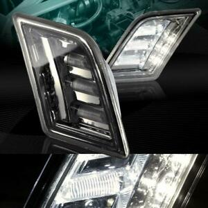 For 2008-2011 Mercedes W204 C-Class Smoke LED Front Bumper Side Markers Lights