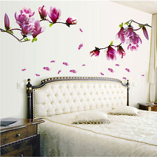 Giant Magnolia Flowers Tree Wall Stickers Art Mural Nursery Wall Decals Decor