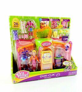 Vintage 2004 Polly Pocket QUIK-CLIK BOUTIQUE SET Dressing Room & Doll Mattel NEW