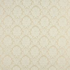 A456 Ivory And White Two Toned Floral Brocade Upholstery Fabric By The Yard