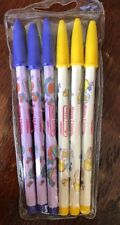 NOS 1980's Bensia Happy Livings Non Sharpening Pencils Set Of 6 Kawaii Taiwan