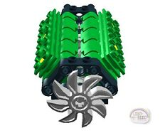 LEGO Technic - V8 Engine Kit w/Fan - Green - New - (Motor, Piston, Crank Shaft)