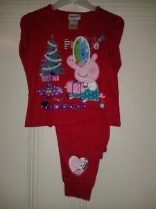 Peppa Pig Xmas Pyjamas Size 18-24 Months