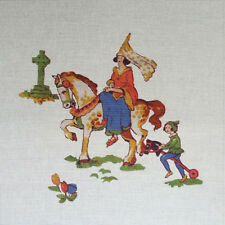 TEX EX VINTAGE NURSERY RHYMES RIDE A COCK-HORSE CHILDREN'S CUSHION PANEL
