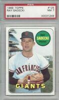 1969 Topps baseball card #125 Ray Sadecki San Francisco Giants graded PSA 7