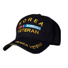 US Honor 3D Embroidered Korea Veteran Bar Baseball Caps Hats