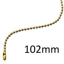 100 pezzi Catene a sfera in acciaio inossidabile Portachiavi con portachiavi Tag con connettore Silver 150mm Catenina per biglie