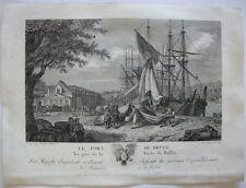 Carl Guttenberg le port de Bruge Bruges porto belge ORIG chiave in rame 1781