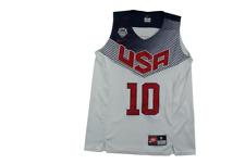 Maillot basket rétro USA N°10 Irving