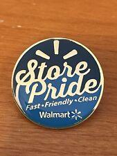Rare Walmart Lapel Pin Store Pride Clean Fast Friendly Pinback