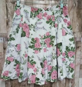 Vintage 80s Rampage Womens High Waisted Floral Cotton Shorts Style R77816 Size 7