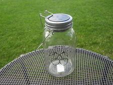 LED Solarlampe Kirschel Licht Glas Gartenlampe Solar Einmachglas Deko Glas leer