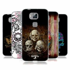 OFFICIAL ALCHEMY GOTHIC SKULL SOFT GEL CASE FOR HUAWEI PHONES 2