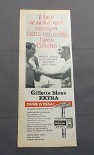 PUB PUBLICITE ANCIENNE ADVERT CLIPPING 040617 / RASOIR GILLETTE BLEUE EXTRA