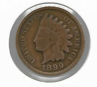 Rare Old Antique US 1899 Indian Head Penny Cent Collectible Collection Coin T59