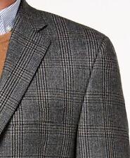 Lauren Ralph Lauren Blazer Size 56R Men Wool Suit Jacket Gray checks Windowpane